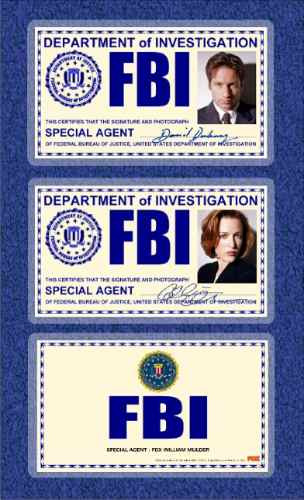 x files expedientes secretos x fbi id promo usa