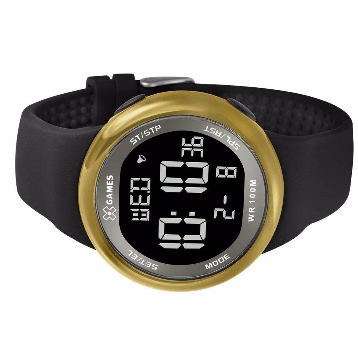 6902504a504 Carregando zoom... relógio x-games masculino digital xmppd441 dourado