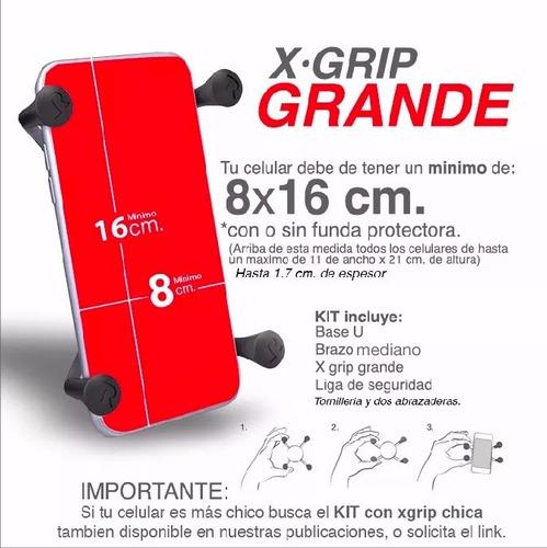 x grip grande con brazo mediano ram mounts