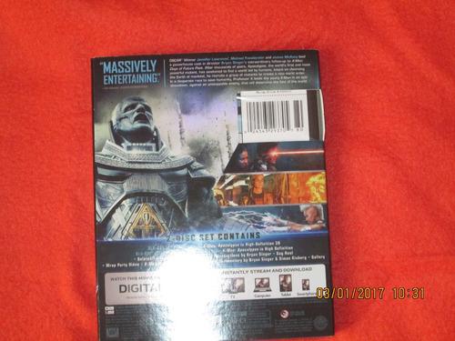 x men apocalypse 3d +blu ray 2d+ dvd +regalo- slipcover 2017