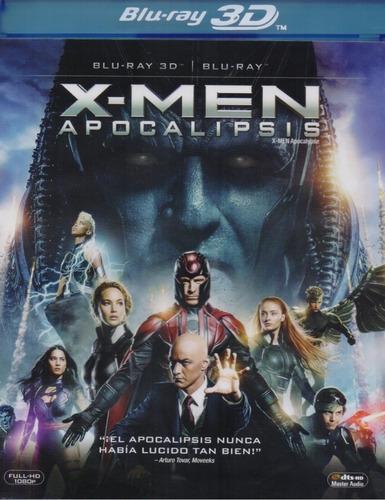x-men apocalypse apocalipsis pelicula blu-ray 3d + blu-ray