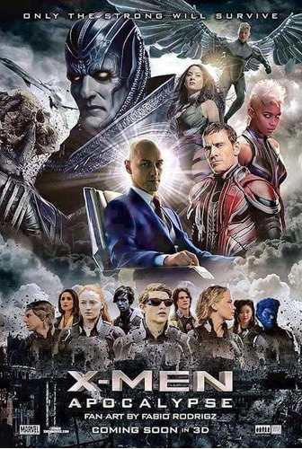 x men apocalypse blu ray oficial+dvd+slipcover 2 discs nuevo