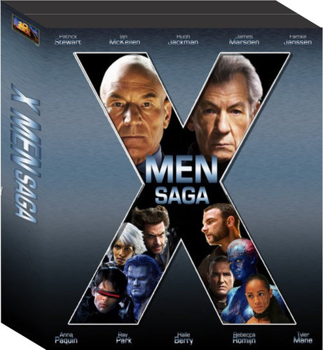 x men saga completa de coleccion en dvd!
