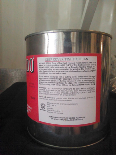 x-pando esp. n ° 2 (pipe joint compound) pote sellado 2kg