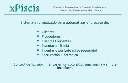 x piscis - software de gestión y administración