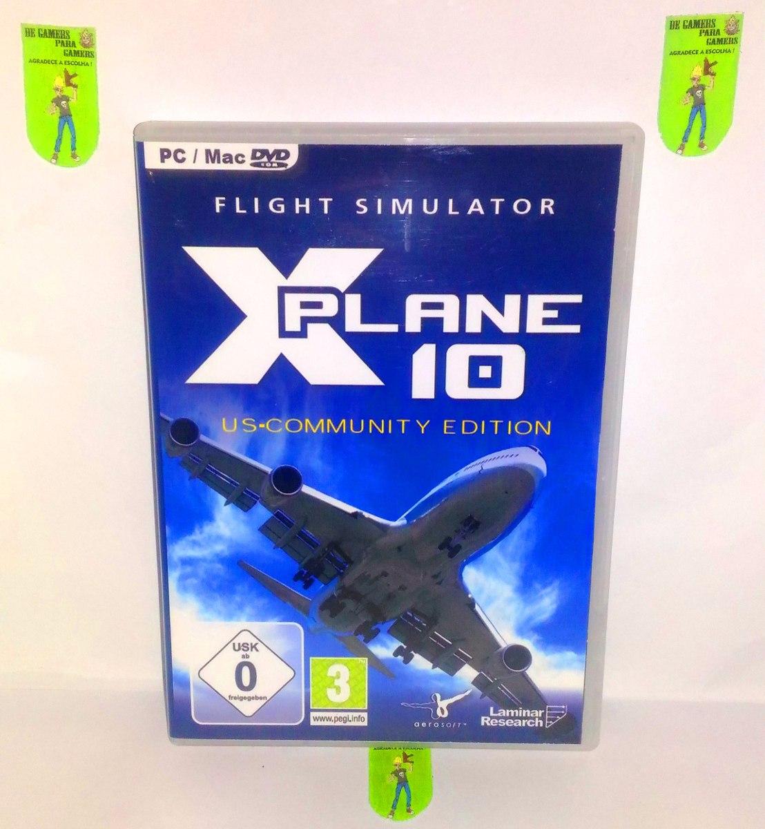 X-plane 10 - Simulador De Voo - Pc Dvd - Frete 8 Reais