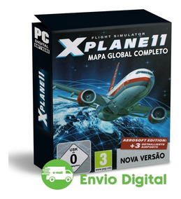 X-plane 11 Mapa Global Simulador Avião Pc Mídia Digital Top