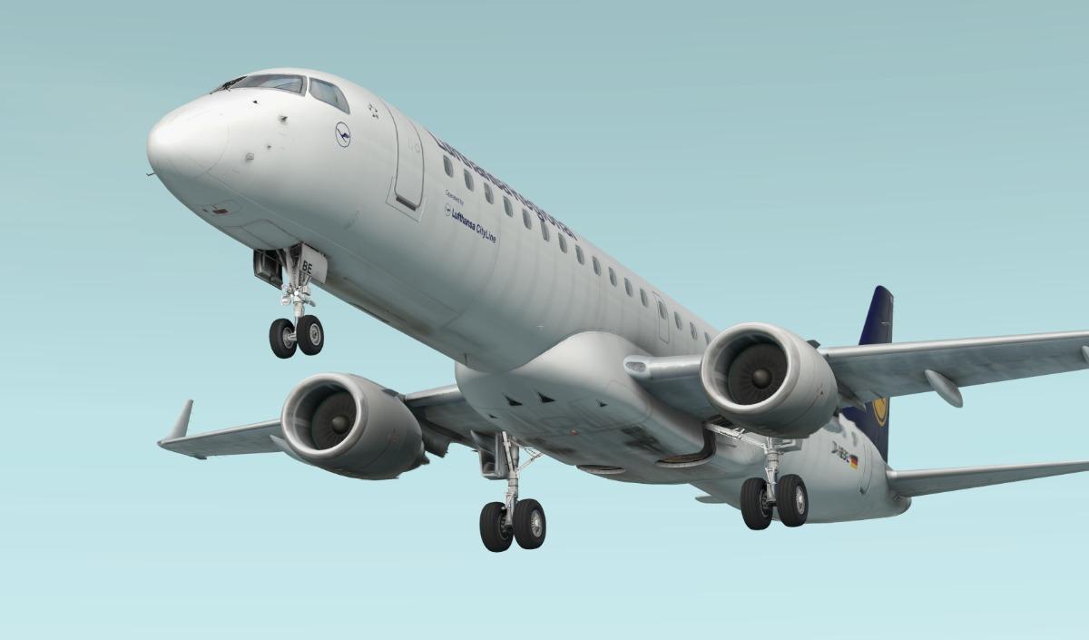 X-plane Embraer E-195 V2  4 Xp11