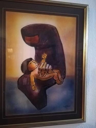 x pocos dias: cuadro original eduardo kingman  la maternidad