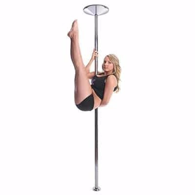 x-pole 45mm chrome x-pert dance pole (spin/static)(cromado)