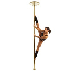 x-pole titanium gold 45mm para fitness y baile