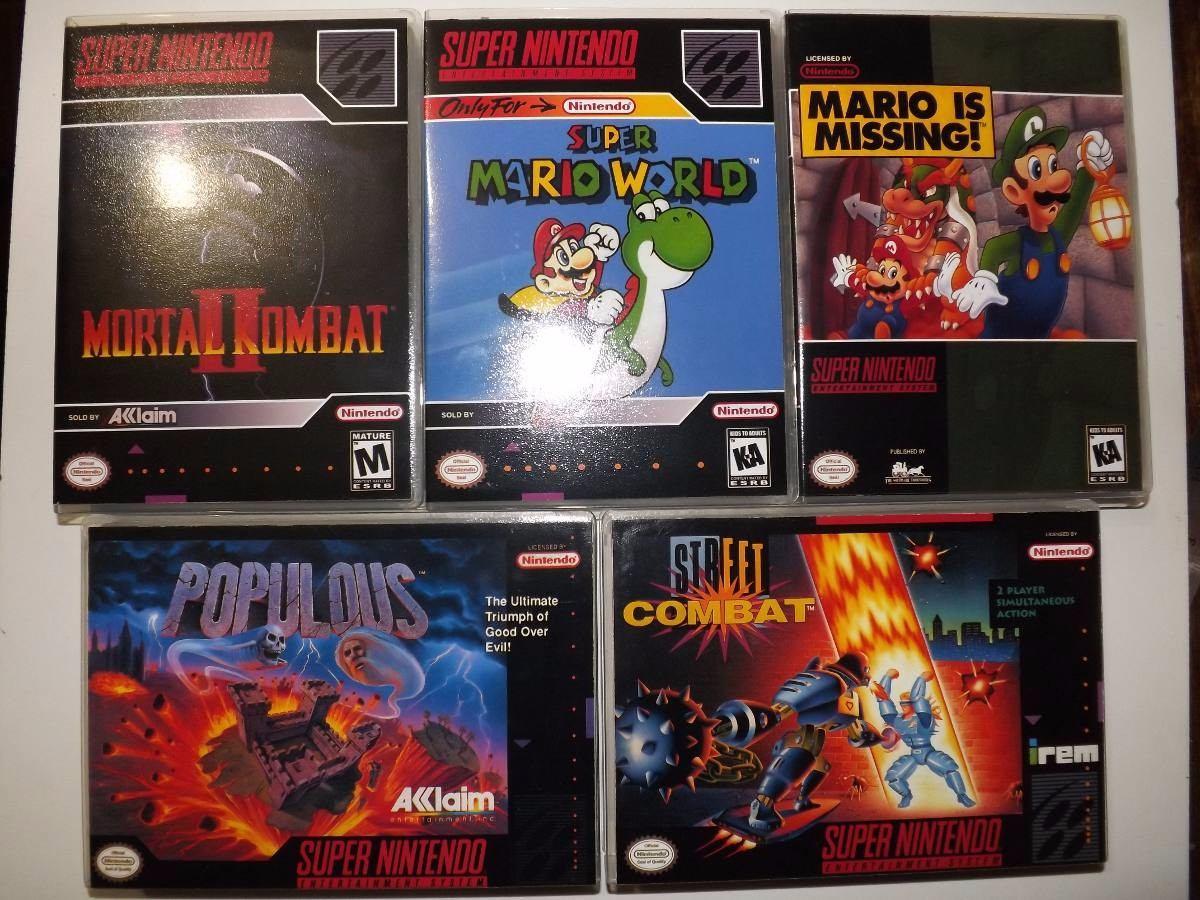 X10 Cajas Para Juegos De Snes Super Nintendo 24 990 En Mercado Libre