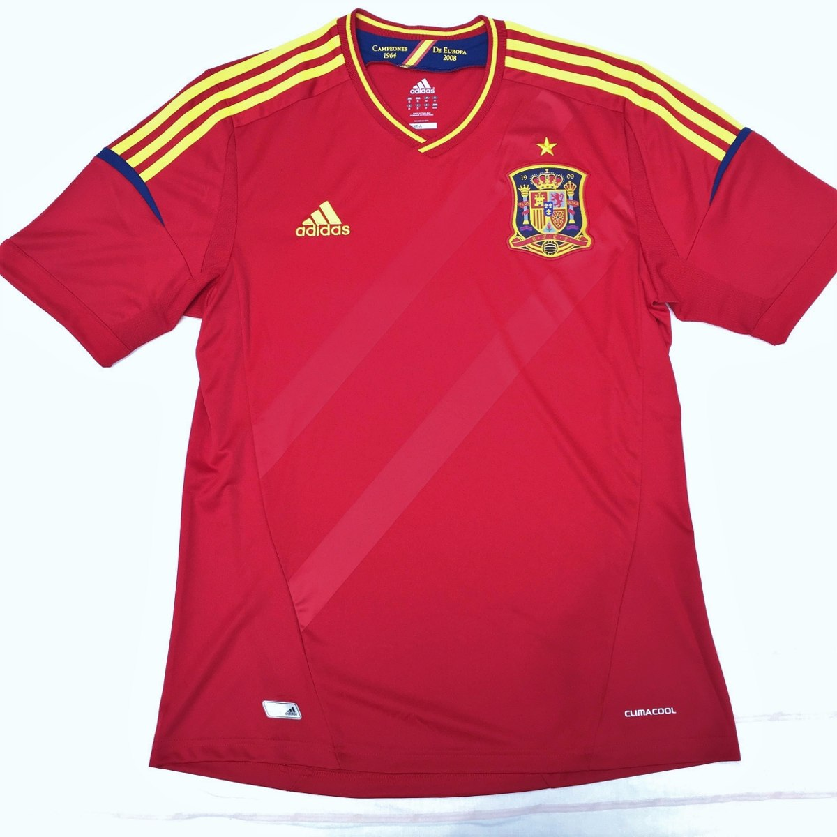 x10937 camisa adidas espanha home 2012 m fn1608. Carregando zoom. abe52bdb46518