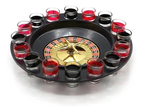 x12 juego ruleta casino shots tragos licor tequila / 204001