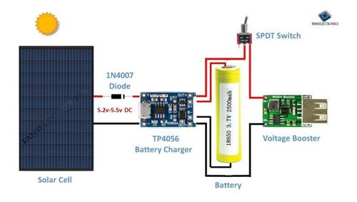 x15 cargador bateria litio 3.7v 18650 modulo tp4056 micr usb