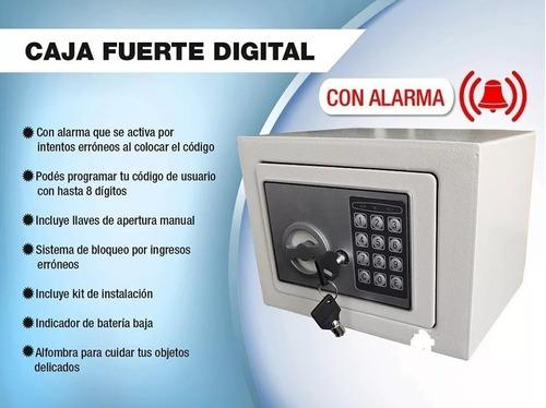 x2 caja fuerte digital + 2 llaves + teclado numerico ml1869