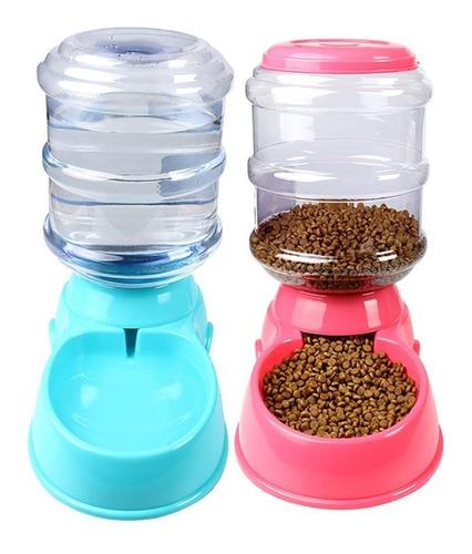 x2 dispensador automatico alimento+agua mascotas ml2885