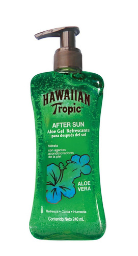 x2 gel aftersun hawaiian tropic aloe vera refrescante 240ml