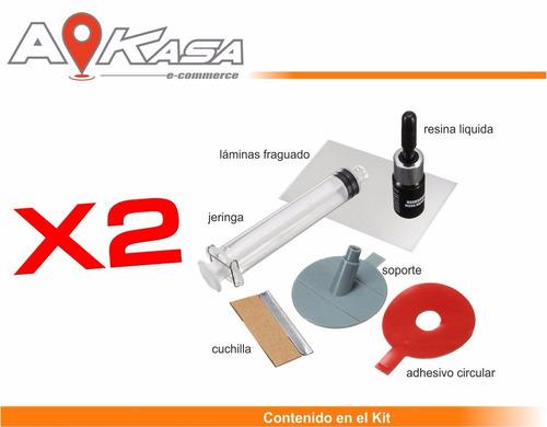 x2 kit de reparación parabrisas  (piquetes)