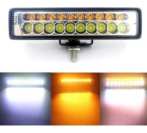 x2 luces foco neblinero led bicolor 20w auto moto camioneta