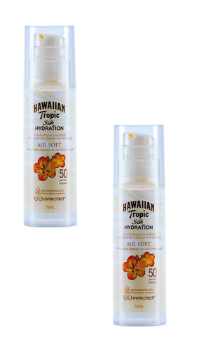 x2 protector solar hawaiian tropic air soft 50 spf 150ml