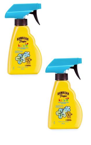 x2 protector solar hawaiian tropic kids spray 50+ spf 240ml