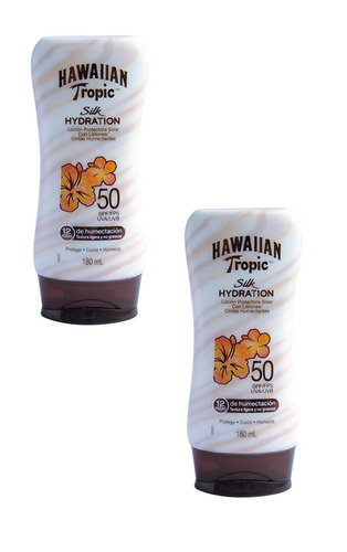 x2 protector solar hawaiian tropic silk hydration 50spf 180