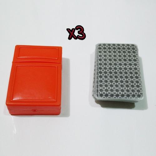 x3 barajas naipe españoles plastificados cartas escoba truco