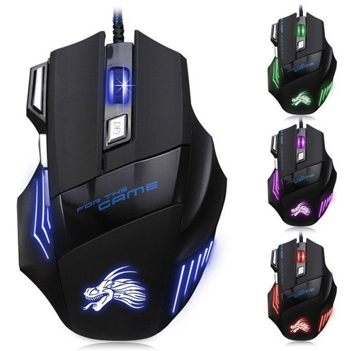 x3 mouse gamer multicolor led ajustable 7 botones