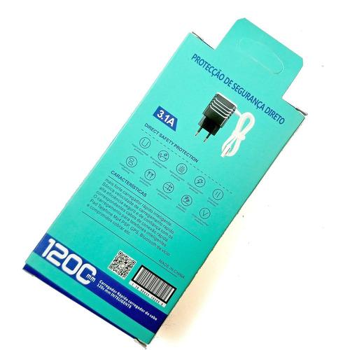 x350 - carregador usb mais rápido 5v celular lg kit c/ 6