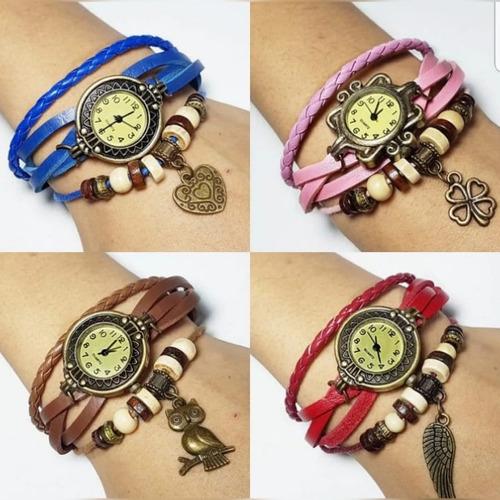 .x5 unidades reloj de mujer cuerina vintage elegante xmayor
