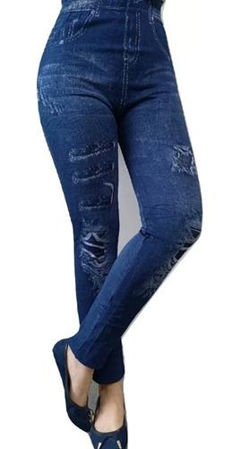 x6 calzas leggings por mayor tipo jeans forradas