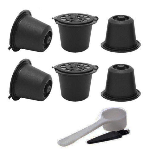 x6 cápsulas nespresso reutilizables recargables