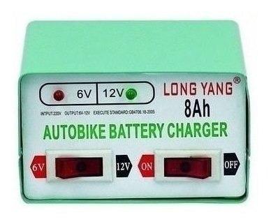 x6 cargador de bateria para autos y motos 12v y 6v  ml3076
