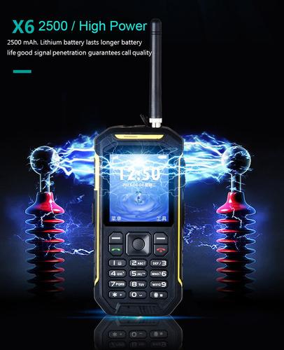 x6 dual card dual standby telefono movil amarillo