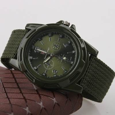 2a08ef992ea X6 Relógios Masculino Pulseira De Couro Militar Soki Ou Fem - R  342 ...