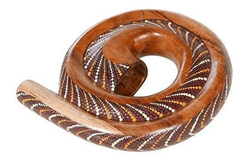 x8 tambores x8-didg-sprl-pt-bg didgeridoo de espiral con fun