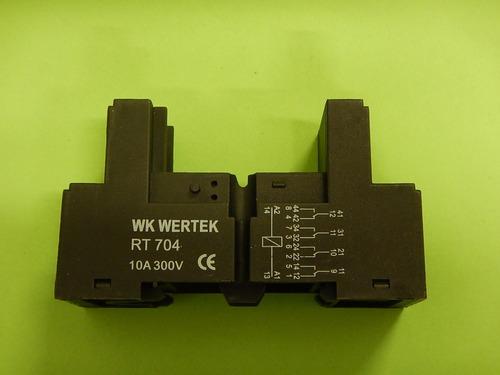 xa base para relevador de 8 y 14 patas  marca wertek