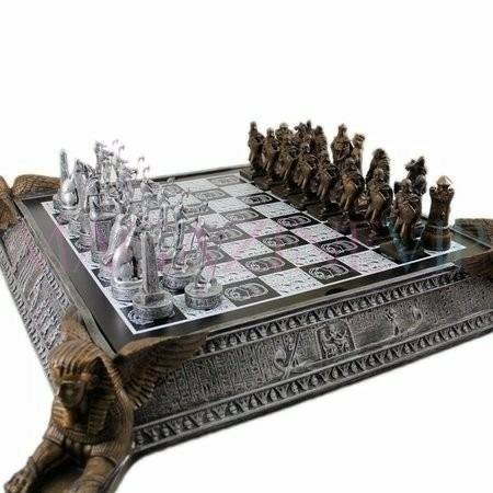 xadrez egípcio império romano tabuleiro lindo egito 32 peças