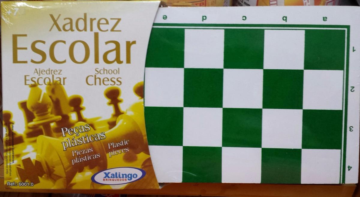 xadrez escolar xalingo peças de plastico ref  6001.0. Carregando zoom. 6ba3cb8c1299f
