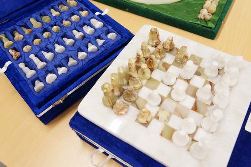 xadrez tabuleiro 20x20 mármore+ ônix paquistanesa com estojo