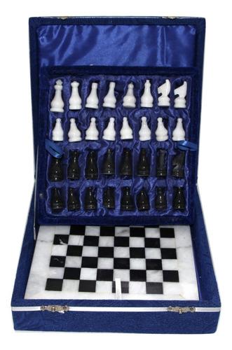xadrez tabuleiro médio 30x30cm mármore e ônix s/j frete grat