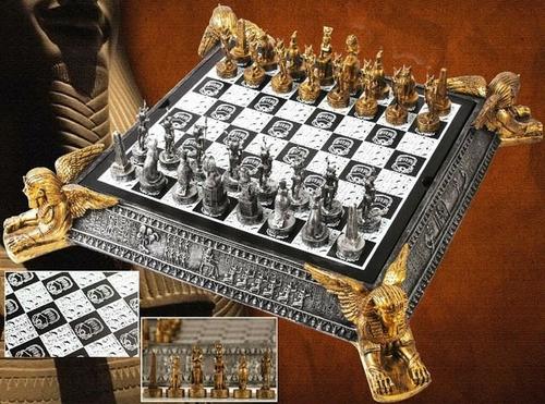 xadrez temático medieval egípcio tabuleiro roma 32 peças