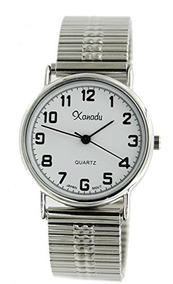 Men Watch Xanadu s Stretch Tone Band Classic Silver fg7bY6y