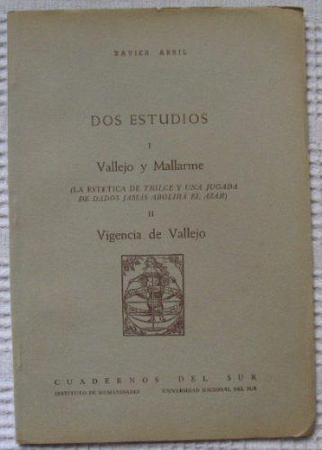 xavier abril - dos estudios. i - vallejo y mallarme