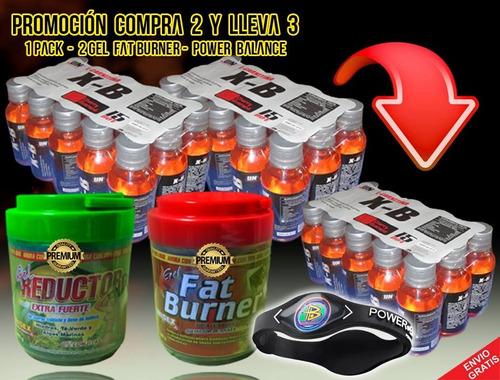 x_b quemador de grasa carnitina 1100+ 15 botellitas gratis