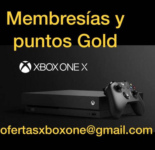 xbox 12 meses membresia gold live individual o familiar