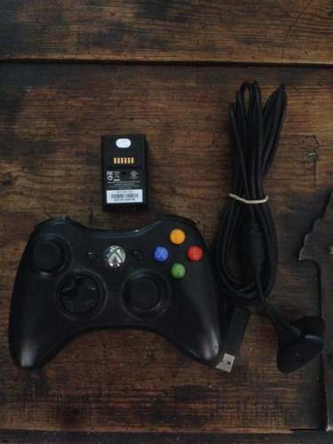 xbox 360+1 control inalambrico c/kit carga y juega+7 juegos