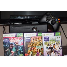Xbox 360 120 Gb Con Kinect, 2 Cont Mic, Aur Y Muchos Juegos