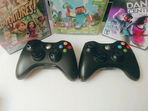 xbox 360  2 controle kinect  na caixa  3 jogos frete grátis